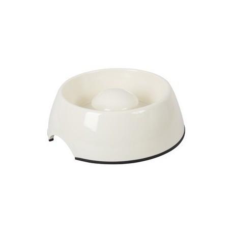Slow feed skål 300 ml. Hvid melamin.