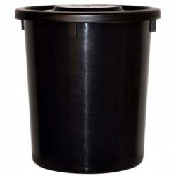 Foderspand 38 L, sort, med tætsluttende låg - Kan indeholde 15 kg foder.